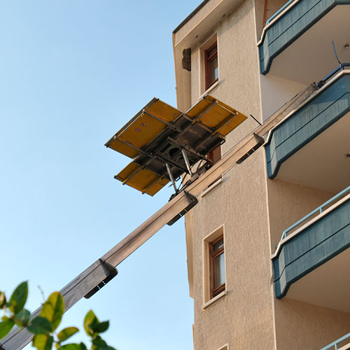 Elevador de muebles por fachada en leganes - Mudanzas en leganes ...